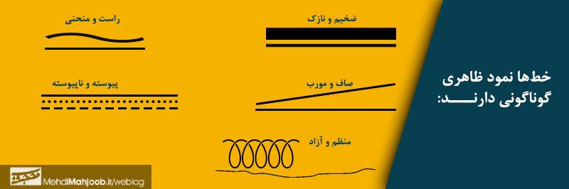 انواع خط در گرافیک